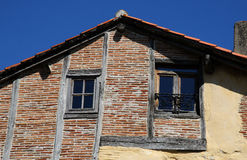 Old shuttered windows and old stonework, France stock image