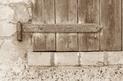 Old shutters Closeup Royalty Free Stock Image