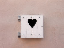Old shutters with heart shape (16) Stock Image