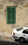 Old shutters, Valetta, Malta. Royalty Free Stock Photo