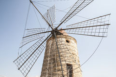 Old sicilian windmill Stock Photos