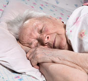 Old sick woman Royalty Free Stock Photo