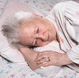 Old sick woman Stock Image