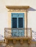 Old siclian window Stock Images