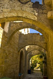 Old side street in Rhodes Royalty Free Stock Images