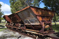 Old side tipping wagon Royalty Free Stock Image