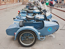 Old sidecar Moto Guzzi V7 Stock Photography