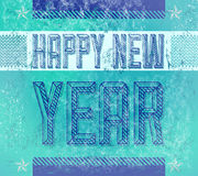 Old Sign - Grunge Happy new year. Card - poster - industrial style royalty free illustration