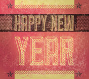 Old Sign - Grunge Happy new year card. Poster - industrial style vector illustration