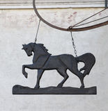 Old sign with horse Royalty Free Stock Images