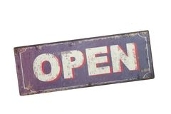 Old Sign OPEN Royalty Free Stock Image