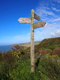 Old sign post, St Bees, England Royalty Free Stock Photography