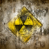 Old Sign Radiation On Wall Royalty Free Stock Photography