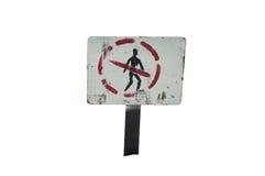 "An old sign - ""No walking"" Royalty Free Stock Photo"