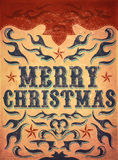 Old Sign, Vintage Merry Christmas poster Royalty Free Stock Photo