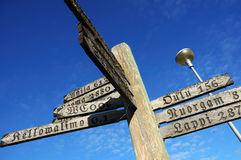 Old signpost Stock Photography