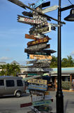 Old signpost. In Key West, FL Royalty Free Stock Photography