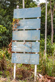 Old signs blank rusty plate on pillar Stock Image