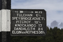 Old Signs in Grantown on Spey in Scotland. Royalty Free Stock Images