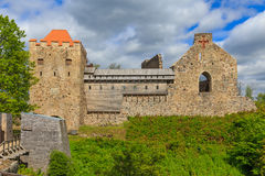 Old Sigulda castle. Castle of Livonian Order in Sigulda, Latvia Royalty Free Stock Photos