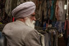Old Sikh man in Amsterdam. An old Sikh man in Amsterdam, Netherlands royalty free stock images