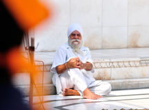 Old Sikh, Sitting Alone Royalty Free Stock Photography