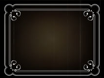 Old silent movie  title frame. Cld silent movie  title frame in art nouveau style Royalty Free Stock Photo