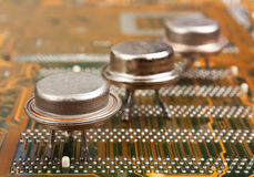 Old silicon chip Stock Photography
