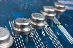Old silicon chip Royalty Free Stock Photos