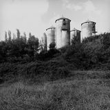 Old silos Royalty Free Stock Photo