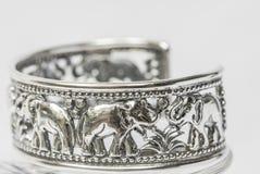 Old silver Bangle Stock Photos