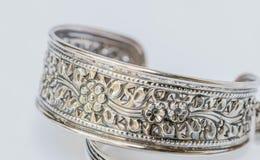 Old silver Bangle Royalty Free Stock Image