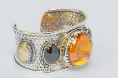 Old silver Bangle Stock Photography