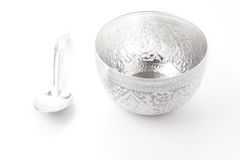 Old silver bowl Stock Image