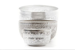 Old silver bowl Stock Photo