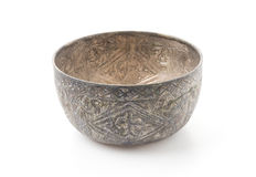 Old silver bowl Royalty Free Stock Photography