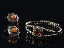 Old silver bracelet Royalty Free Stock Photography