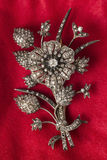 Old Silver Brooch Royalty Free Stock Photos