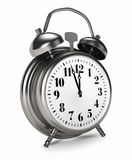 Old Silver Clock Stock Image