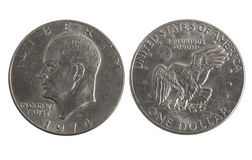Old silver dollar Stock Photo