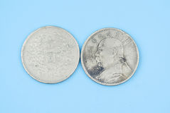The old silver dollar of the republic of China Royalty Free Stock Photos