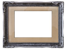 Old silver frame. A antique silver frame with clipping paths Royalty Free Stock Photos