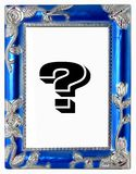 Old silver frame. Perfect for Black and White photos Royalty Free Stock Images