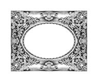Old silver frame for your picture Royalty Free Stock Image