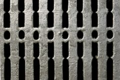 Old Silver Grate Stock Photography