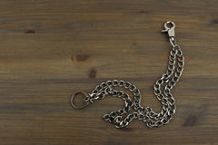 Old silver key chain with keys Royalty Free Stock Photo