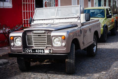 Old silver Land Rover Royalty Free Stock Photography