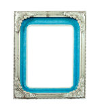 Old silver metal frame. On the white background Royalty Free Stock Photos