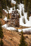 Old silver mine shaft Royalty Free Stock Photos