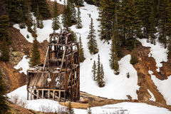 Old silver mine shaft Stock Photos